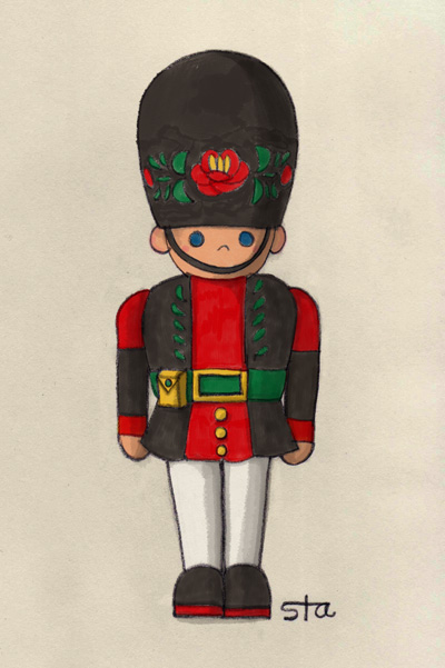 A toy soldier